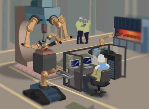 Cartoon, Animation, Room, Illustration, Design, Desk, Office, Classroom, Interior design, Furniture,