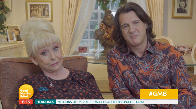 Barbara Windsor makes rare TV appearance with husband Scott Mitchell