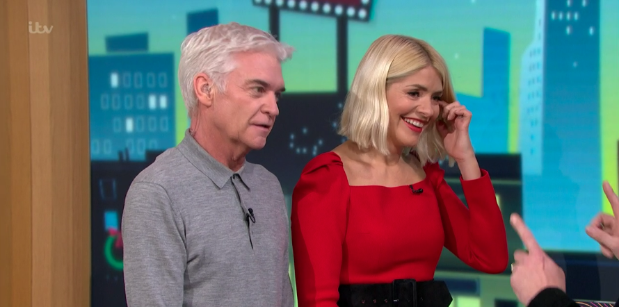Holly Willoughby wows in glamorous red dress