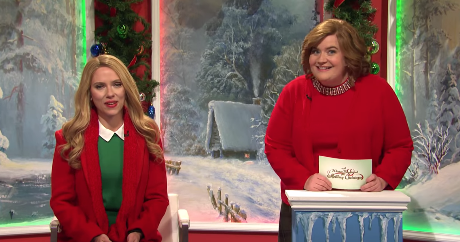 'Saturday Night Live' and Scarlett Johansson Spoof Hallmark Christmas Movies in Game Show Format