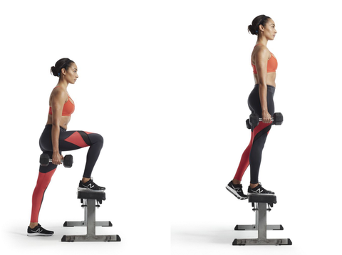 How To Do: A Dumbbell Step-up for Seriously Toned Legs