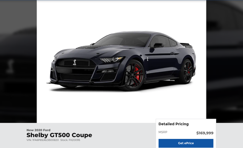 Dch Ford Of Thousand Oaks >> Ford Dealer Wants 169 999 For A 2020 Ford Mustang Shelby Gt500