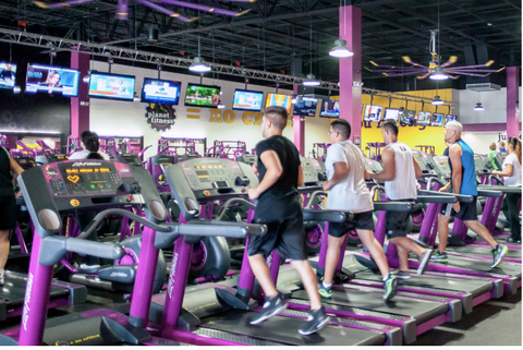 gym, physical fitness, sport venue, purple, exercise equipment, exercise, room, muscle, exercise machine, leisure,