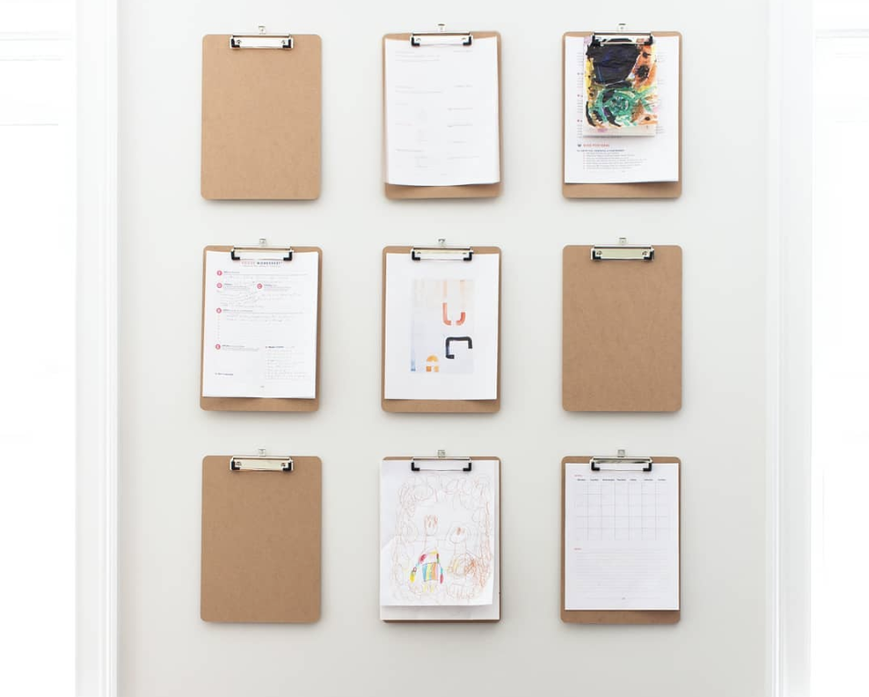 Here's Why You Need a DIY Clipboard Wall in Your Home