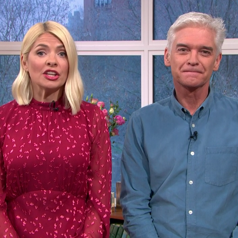 Holly Willoughby little red dress