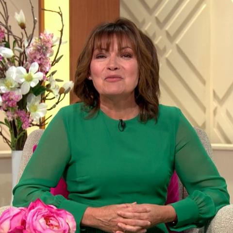 Lorraine Kelly green jumpsuit Zara