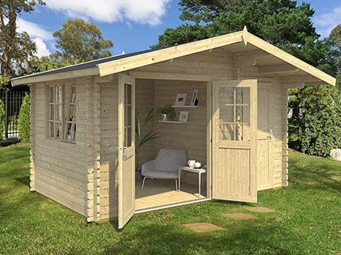 Log cabin, Building, Shed, Property, House, Cottage, Home, Garden buildings, Roof, Real estate,