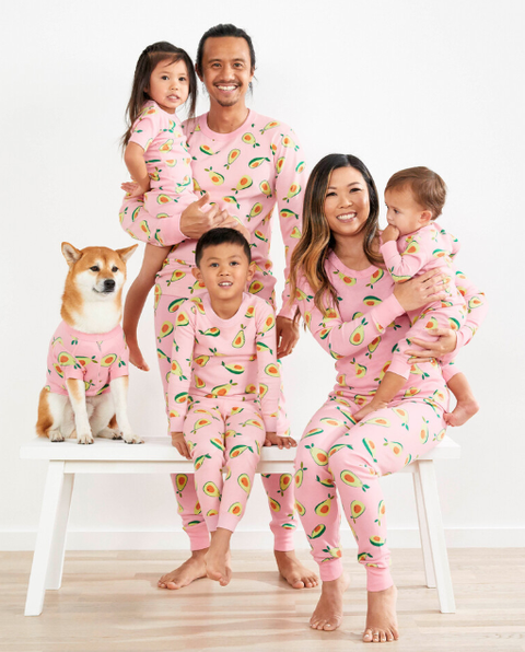 People, Nightwear, Pajamas, Clothing, Child, Family taking photos together, Fun, Human, Sleeve, Sitting,