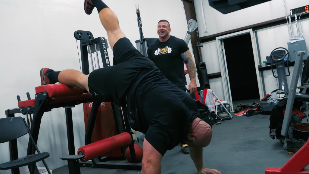 Watch Strongman Brian Shaw Try to Do a Handstand