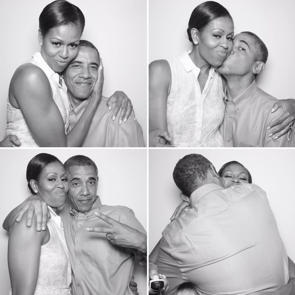 Barack Obama Wishes Michelle Obama a Happy 56th Birthday With a New Photo Booth Snap