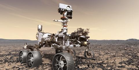 Vehicle, Technology, Landscape, Desert, Robot, Machine, Aeolian landform, All-terrain vehicle, Soil,