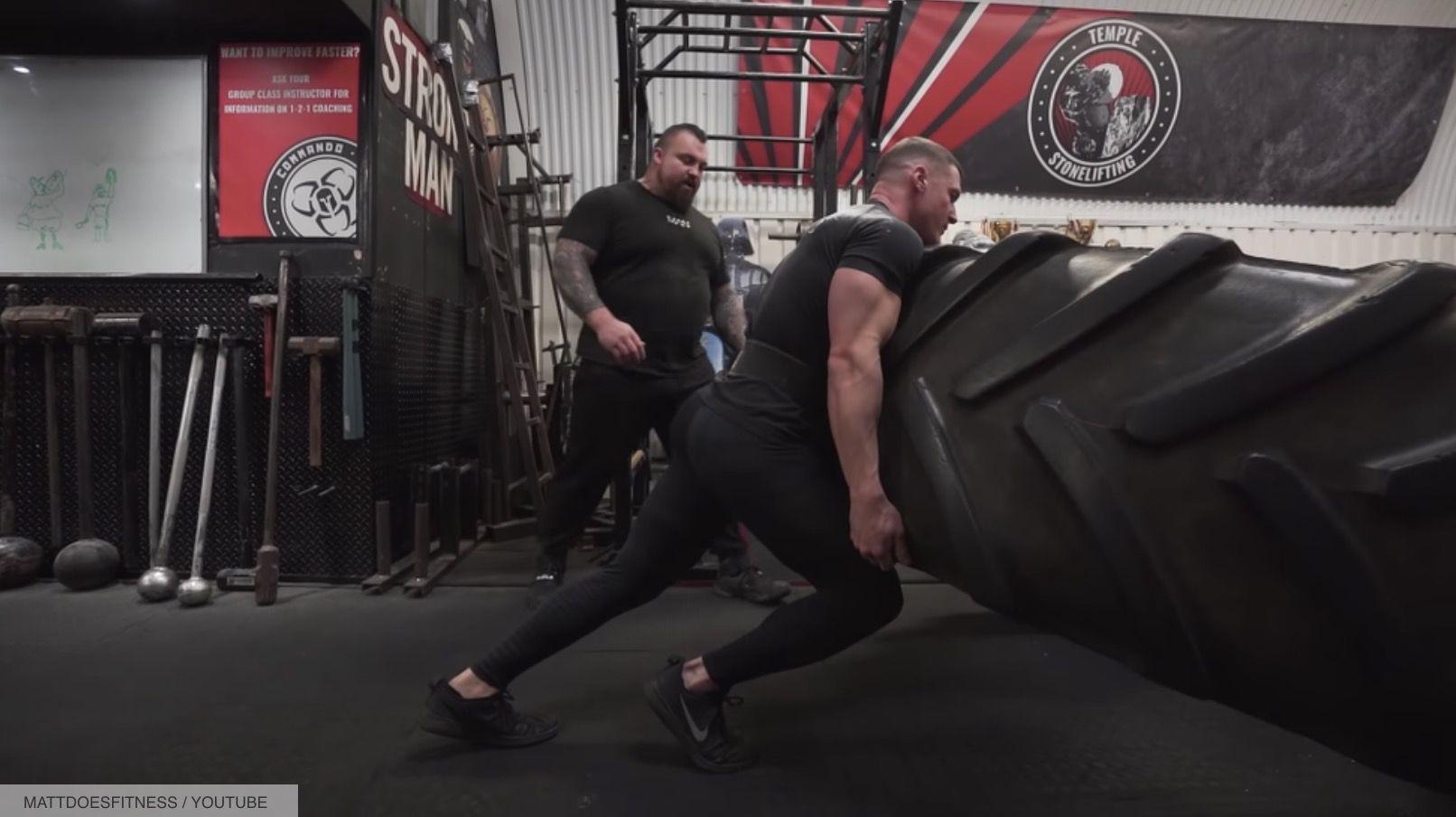 Eddie Hall Just Put This Bodybuilder Through a Classic Strongman Training Session