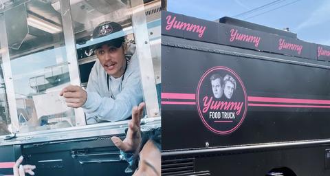 Vehicle, Food truck, Advertising, Truck,