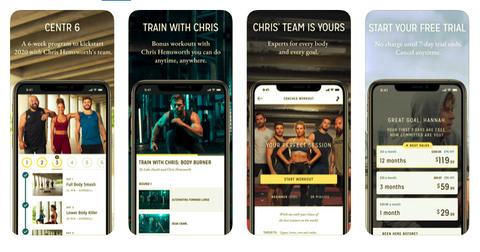 best fitness apps, centr, women's health uk