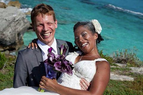 Photograph, Facial expression, Bride, Ceremony, Wedding, Marriage, Vacation, Event, Fun, Happy,