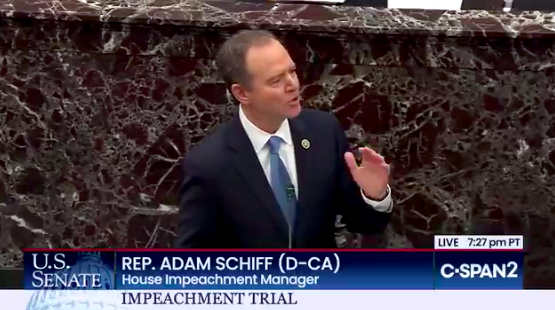 Adam Schiff's Closing Argument for Trump's Removal Was Simple: He Is Pathologically Self-Interested