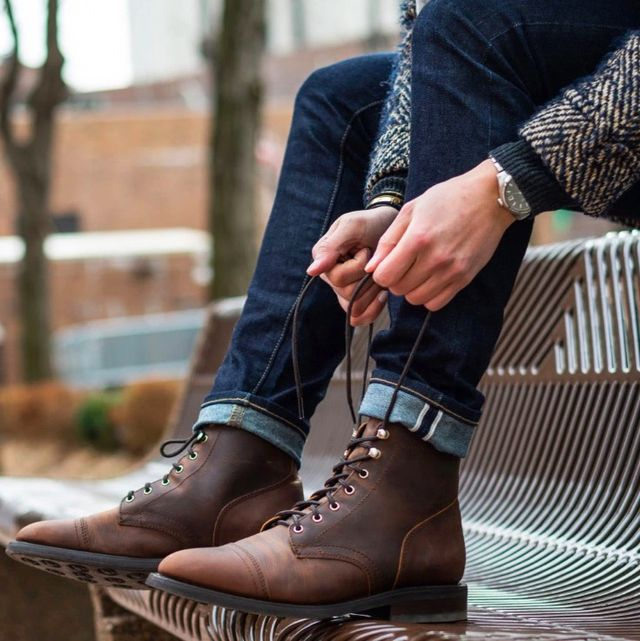 Footwear, Shoe, Boot, Brown, Cowboy boot, Riding boot, Ankle, Street fashion, Motorcycle boot, Leg,