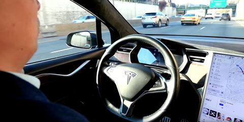 Andrew Yang, in Tesla Model X, Lets Autopilot Drive in Campaign Ad