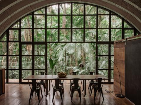 Room, Architecture, Building, Arch, Interior design, Daylighting, Window, Furniture, Table, Estate,