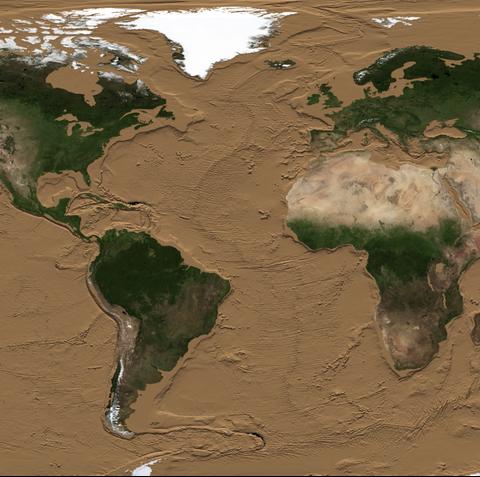 Ecoregion, World, Map, Water, Earth, Soil, River delta, Illustration, Estuary, Terrain,
