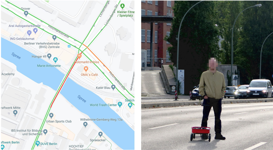 This Guy Created a Fake Google Maps Traffic Jam With a Wagon Full of Smartphones