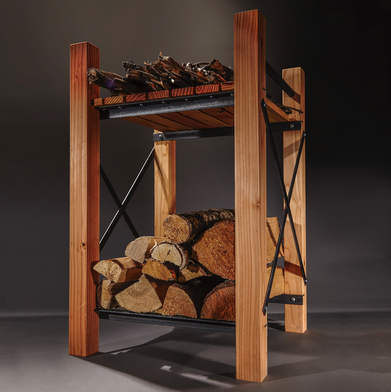 How To Build Your Very Own Indoor Firewood Rack