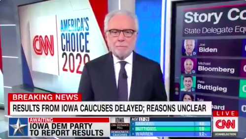 Wolf Blitzer's Debacle on CNN Was an Emblem of the Iowa Caucus Disaster