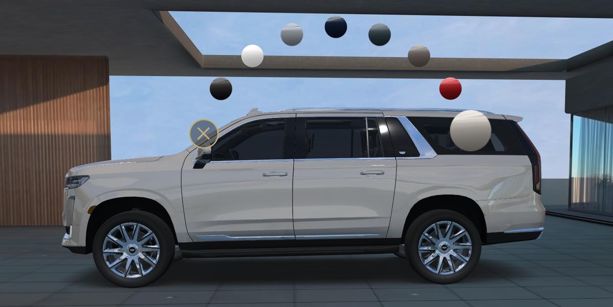 Cadillac Leaks 2021 Escalade ESV on Visualizer Spec Tool