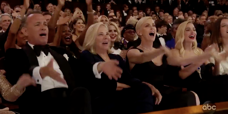 The Oscars Cut the Mic During the 'Parasite' Win, the Crowd Protests