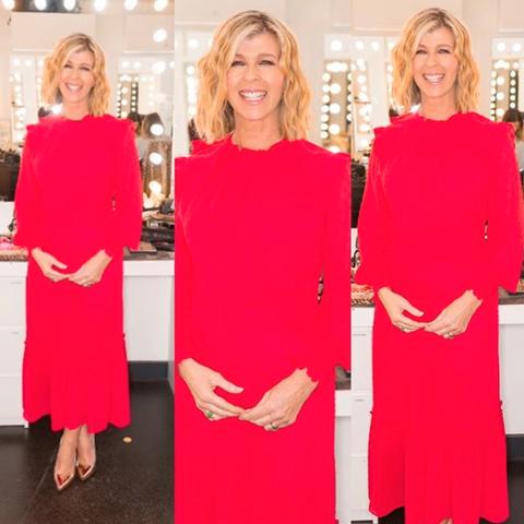 Kate Garraway red dress Laura Ashley