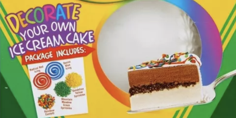 You Can Draw Whatever You Want On This Crayola Ice Cream Cake