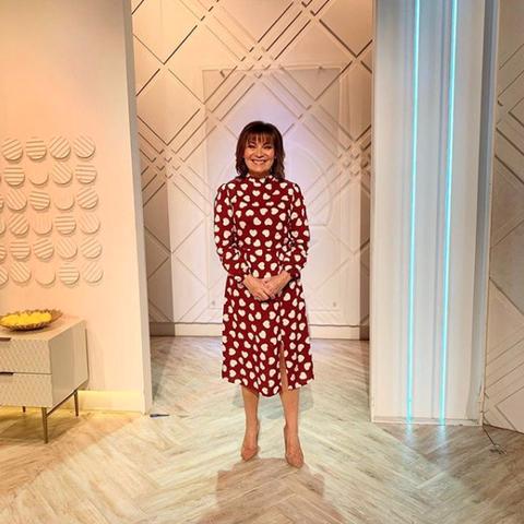 Lorraine Kelly stuns in bargain Very dress for Valentine's