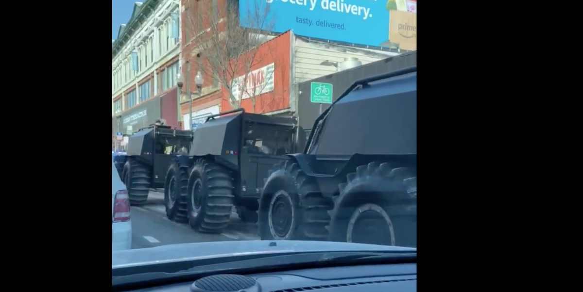 What Are Those Huge ATVs Handing Out Kanye West's Yeezy QNTM Shoes?
