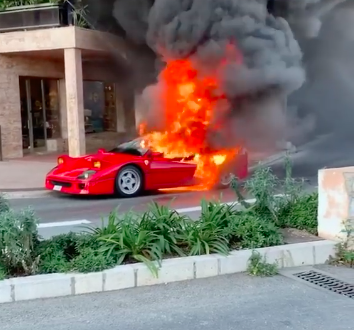 Watch This Ferrari F40 Burn to the ...
