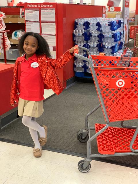 Red, Child, Supermarket, Vehicle, Shopping cart, Shopping,