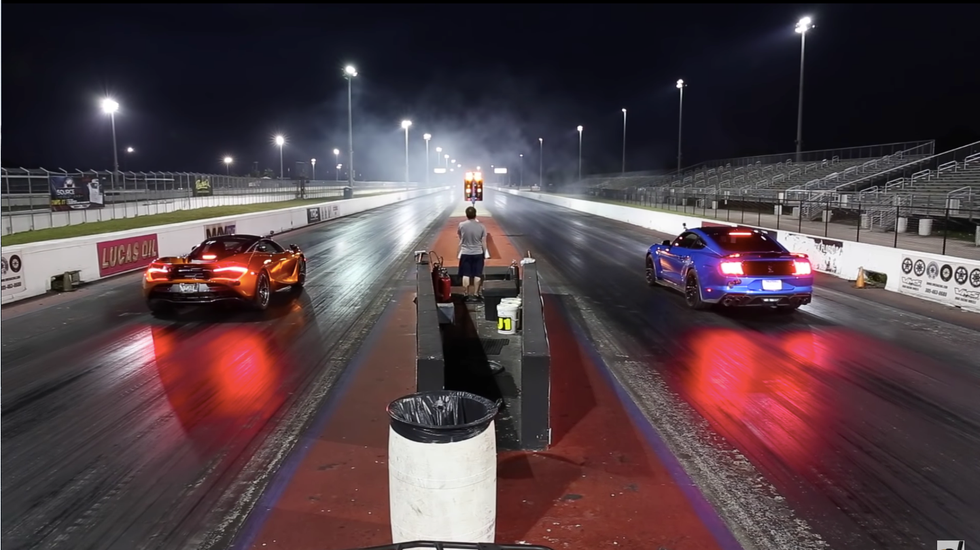 Watch a Drag Race Between a McLaren 720...