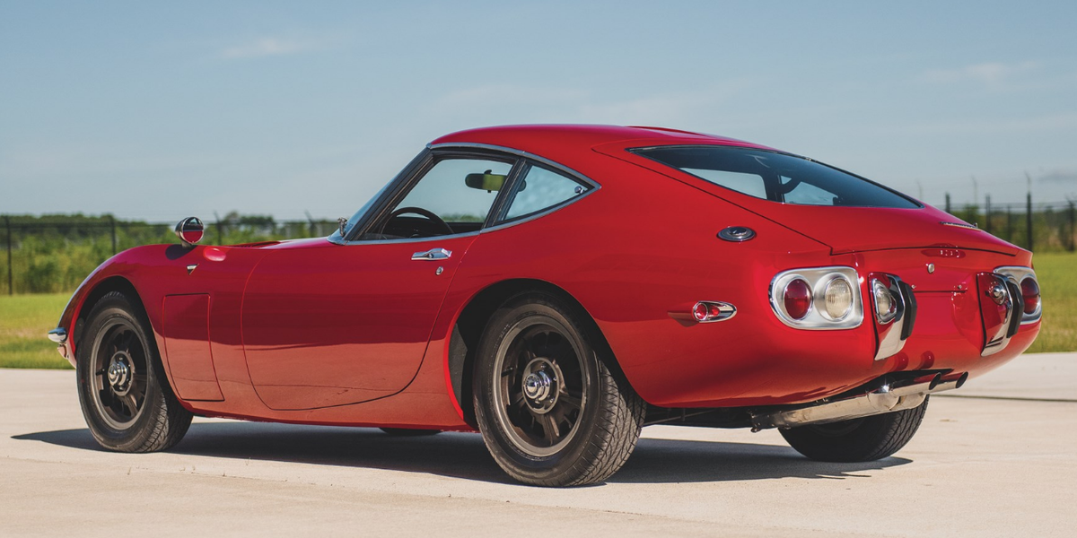 Brilliantly Red 1967 Toyota 2000GT up for Auction this Spring