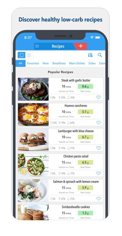 best diet app for low carb and celiac