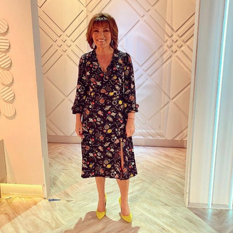 We love Lorraine Kelly's space print dress