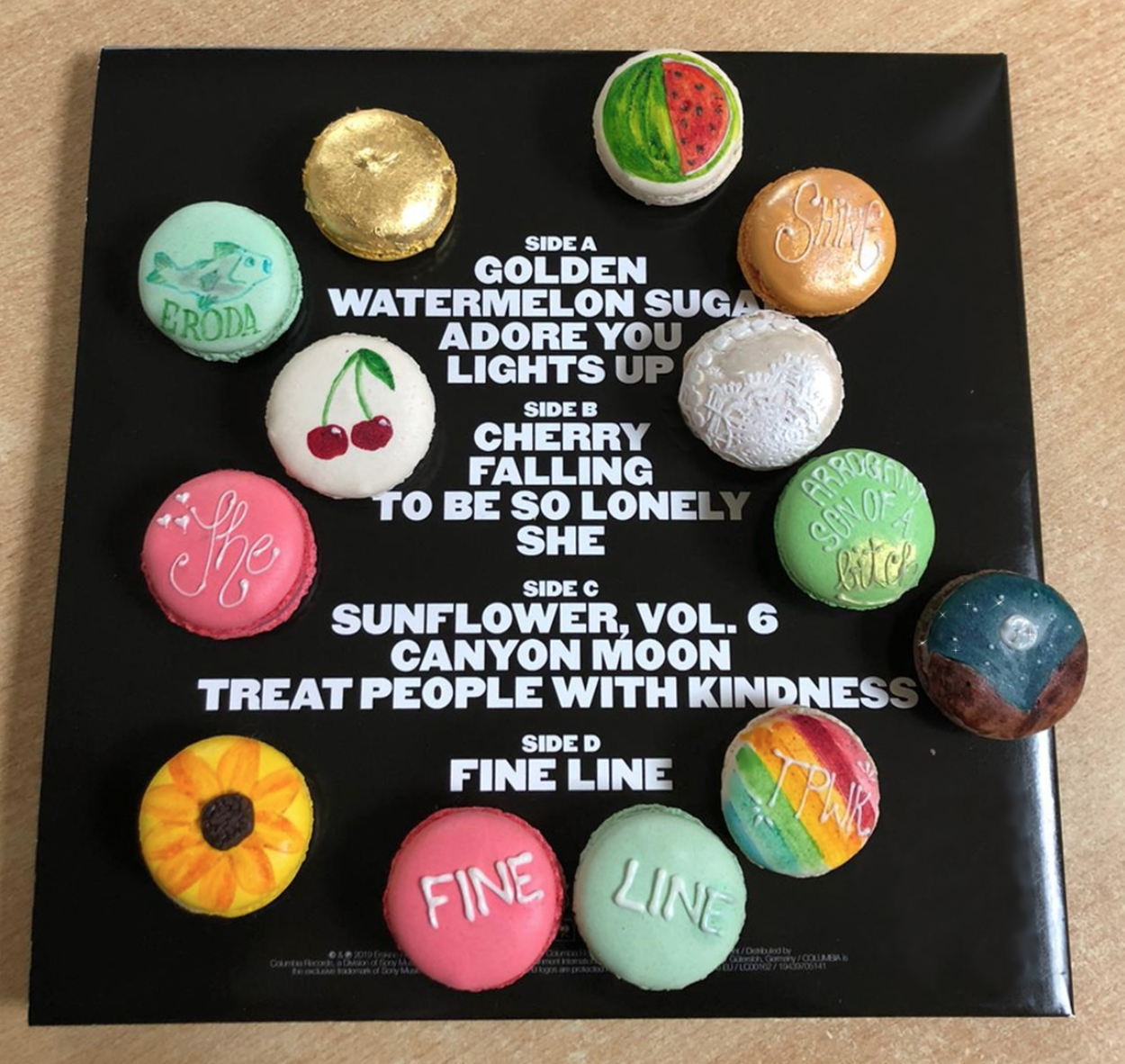 A Fan Made Macarons Inspired By Harry Styles Fine Line Album