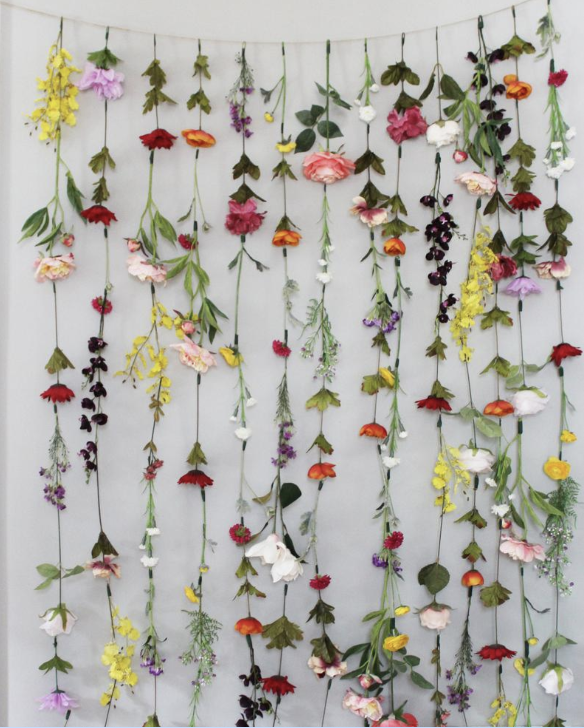 Flower Wall Garlands Are Trending On