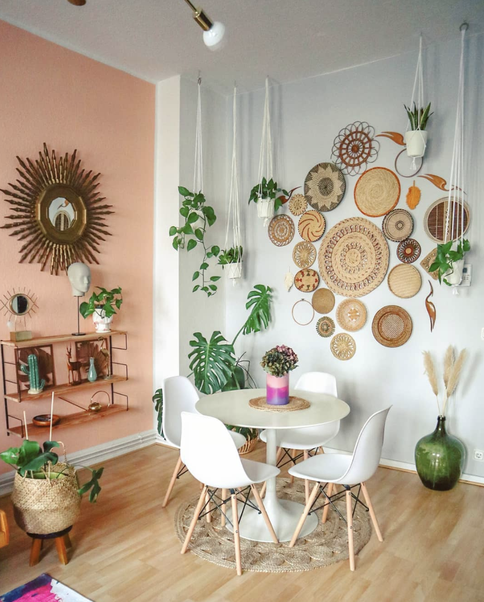 Basket Walls Are The New Fun Wall Art All Over Instagram