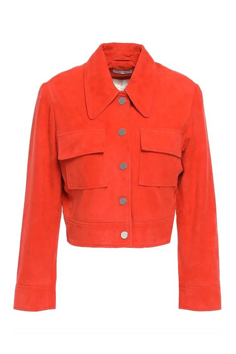 Clothing, Outerwear, Sleeve, Red, Jacket, Orange, Button, Pocket, Top, Blazer,