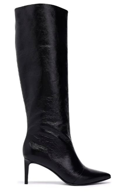 Rag and Bone Beha crinkled glossed-leather knee boots