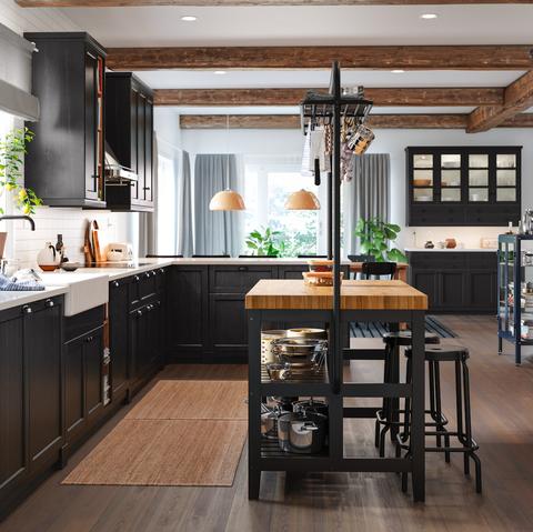 Countertop, Cabinetry, Furniture, Room, Ceiling, Kitchen, Interior design, Property, Floor, Building,