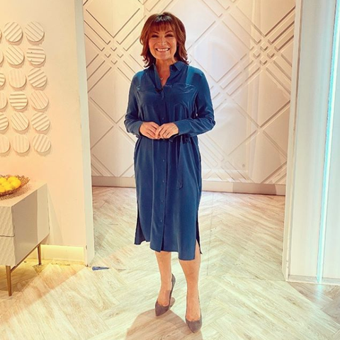 Lorraine Kelly dresses for spring in the perfect M&S dress
