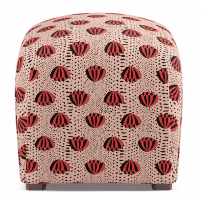 Clare V red lotus ottoman