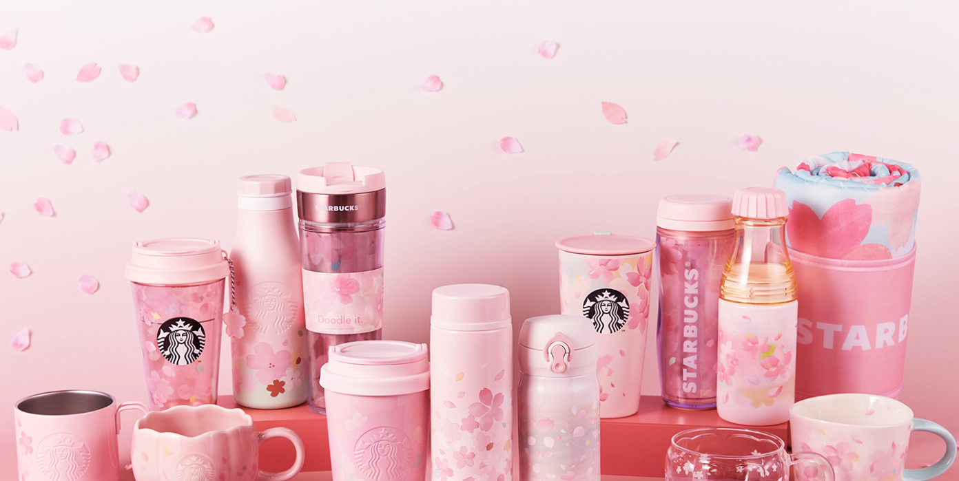 Starbucks Has Cherry Blossom-Themed Mugs And Cups