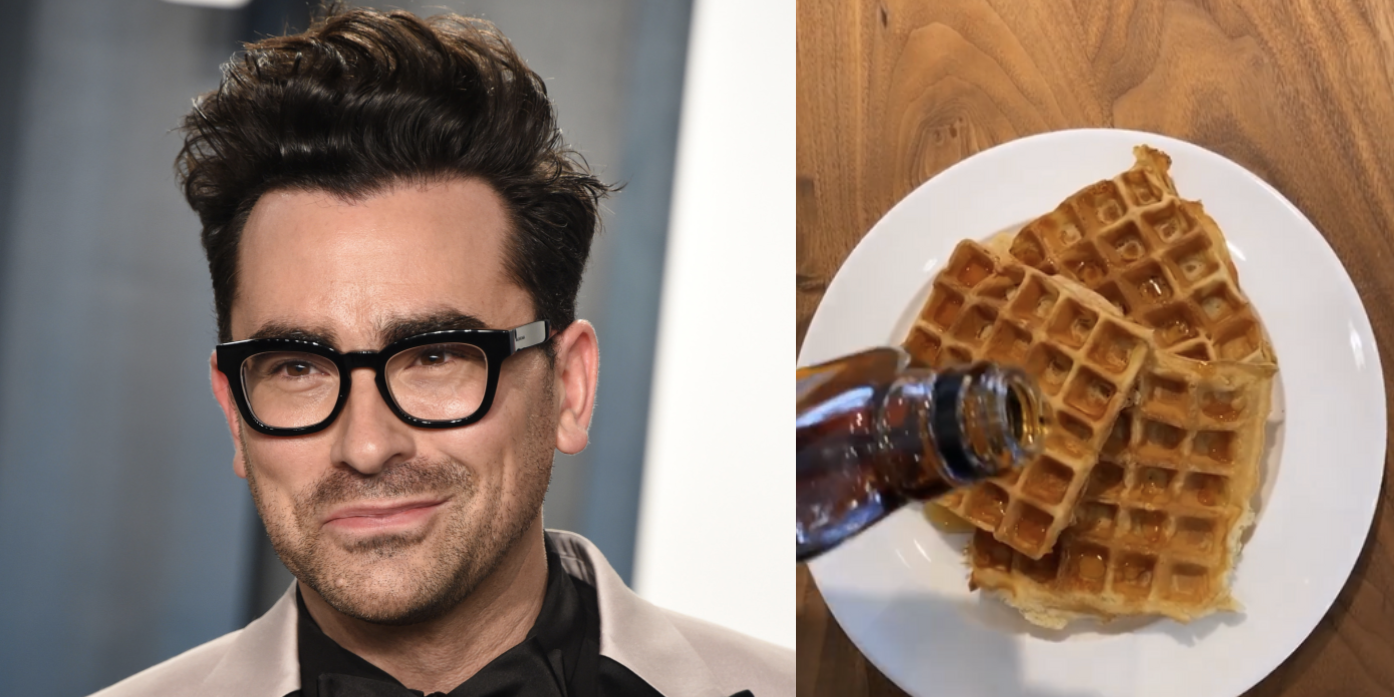 Dan Levy Puts Sour Cream In His Waffle Mix