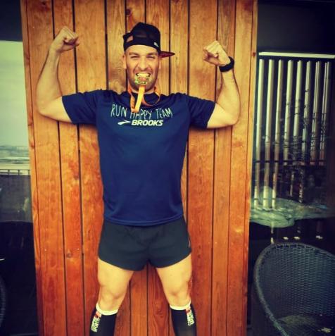 man runs marathon on balcony, women's health uk